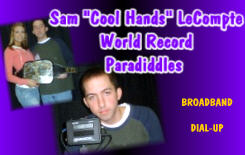 Sam Cool Hands LeCompte - Drum Record