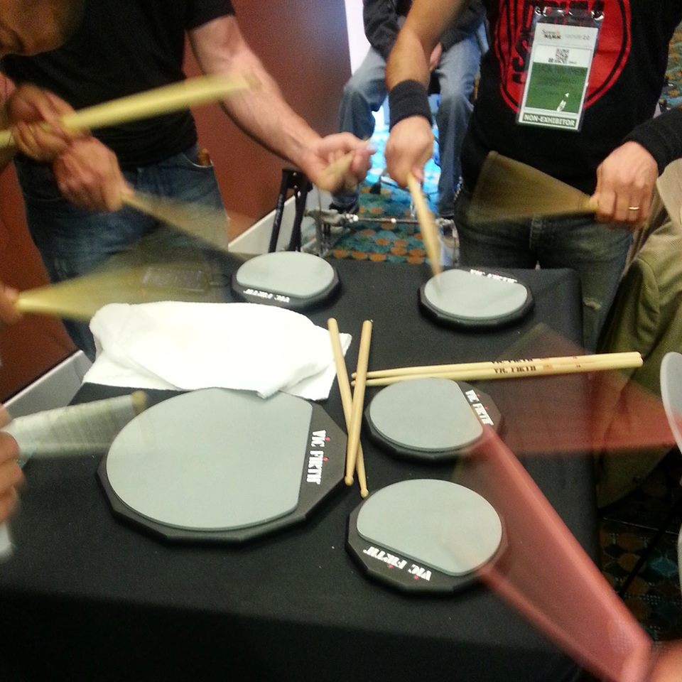Vic Firth warm up area